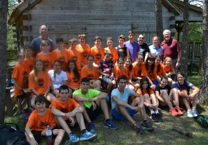 Basketball campers at L'Arcada