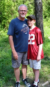 Grandson, Caleb, with his Pop Pop!